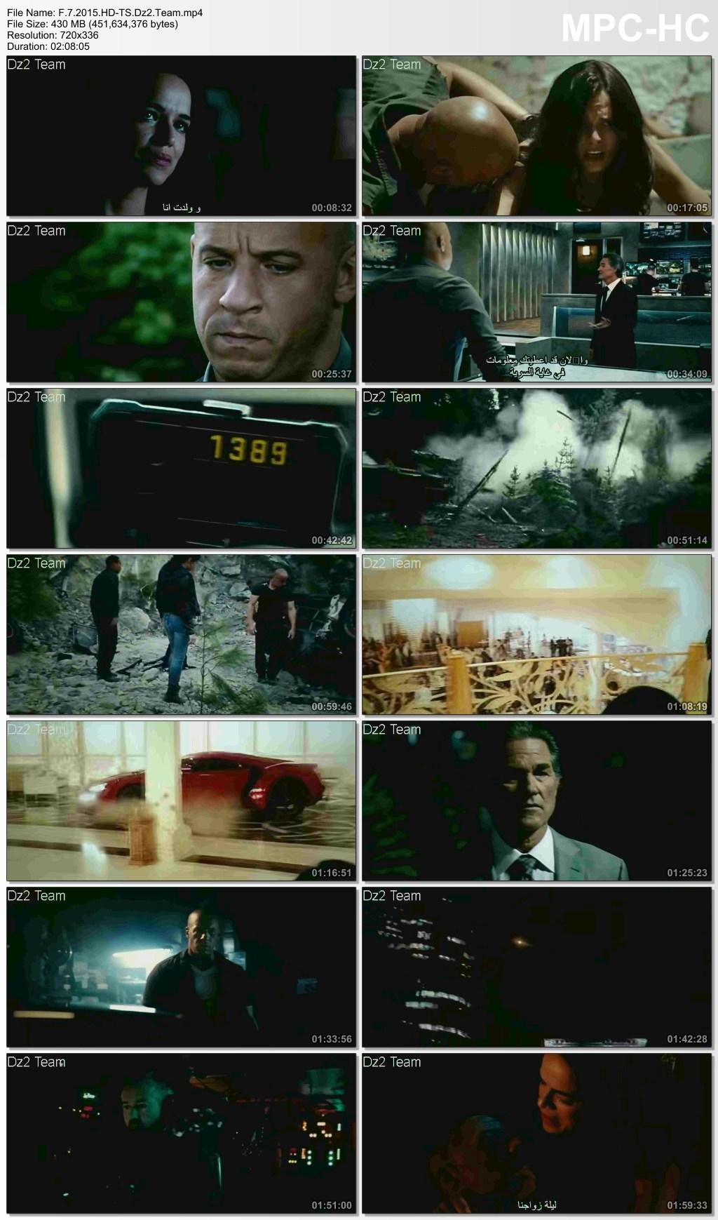 فيلم الاكشن Fast and Furious 7 2015 HD-TS.x265 مترجم بحجم ...